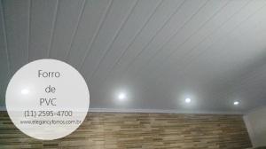 Forro de PVC aplicado em uma residência